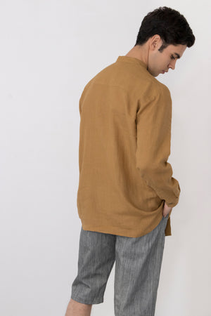 Iodine Front Pocket Linen Shirt