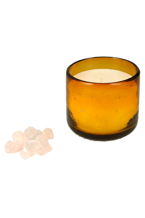 Amber LOVE Healing Candle