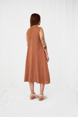 Anise Linen Button Front Dress
