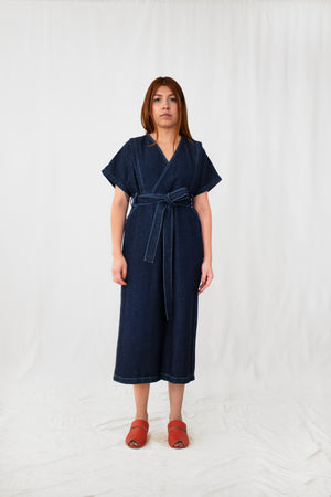 Thistle Washed Denim V-Neck Jumpsuit