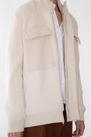Helsinki Oversized Knit Wool Jacket