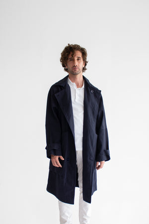 Macadamia Washed Canvas Trench Coat