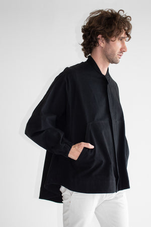 Moon Oversized Cotton Twill Bomber Jacket