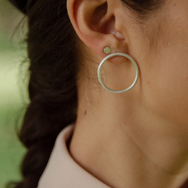 Punto Silver Earrings