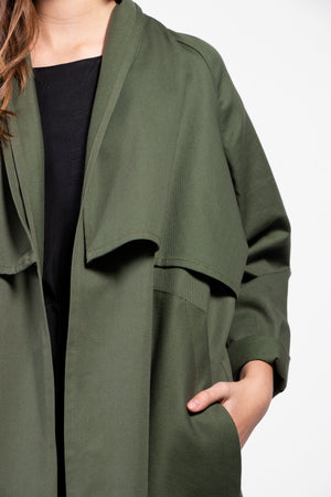Cromo II Cotton Twill Open Trench Coat
