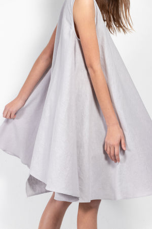 Hera Linen-Blend Dress With Contrasting Panel