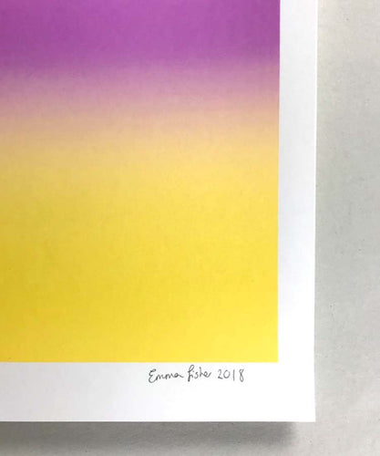 A3 Mauve and yellow screen print