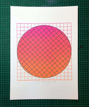 Load image into Gallery viewer, A3 Grid Magenta screen print