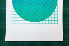 Load image into Gallery viewer, Grid Teal | A3 Screen print