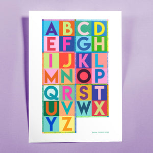 NEW A2 Alphabet art print