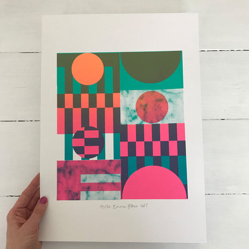 A3 Red Sun screen print