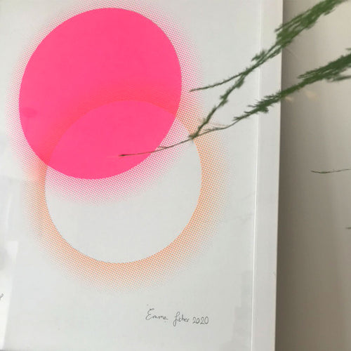 A3 Eclipse screen print | Pink