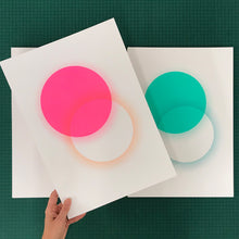 Load image into Gallery viewer, A3 Eclipse screen print | Pink