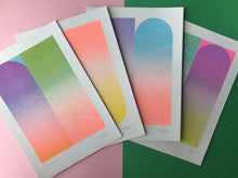 Load image into Gallery viewer, NEW A5 Gradient Riso Prints