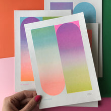 Load image into Gallery viewer, A5 Gradient Riso Prints