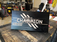 "20"" Apex Legends Personalized Champion Flag - Wood, Wall Mounting"