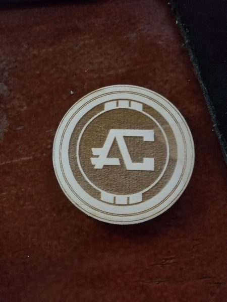 Wooden Apex Coin