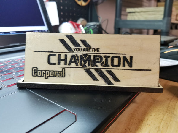 "Apex Legends Champion Plaque 10"" Wide"