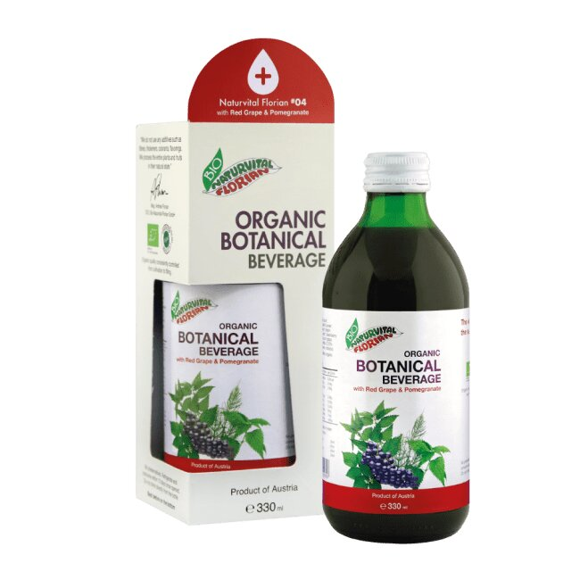 Naturvital Florian® #04: Organic Red Grape & Pomegranate (330ml)