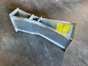 2-inch galvanized steel Parshall Flume with water level gauge