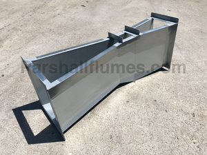 2-inch galvanized steel parshall flume - right side view
