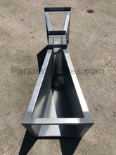 Load image into Gallery viewer, 2-inch galvanized steel parshall flume - top view