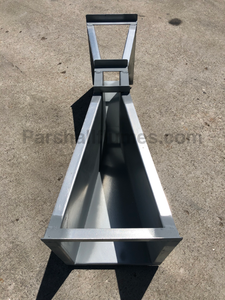 2-inch galvanized steel parshall flume - top view