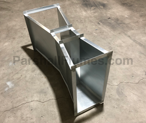 9-inch galvanized steel parshall flume - ortho view
