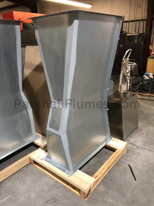 9-inch galvanized steel parshall flume - palleted for shipping
