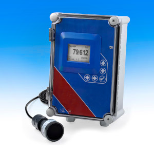 data logging ultrasonic flow meter for Parshall flumes