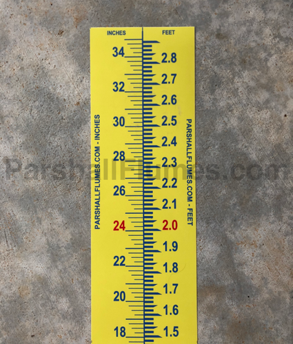 level - staff - head gauge for Parshall flumes