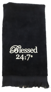 Blessed 24:7 Velour Hand Towels