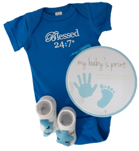 Baby Onesie Gift Set Blue