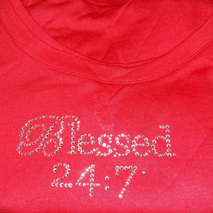 Closeout BLING Blessed 24:7