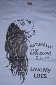 Closeout Tshirt Sale Love My LOCS LONG SLEEVE