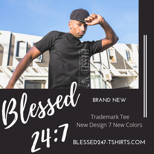 Blessed 24:7 ...even on a bad day GOD is Good... (Sideway Print) Unisex T-shirts