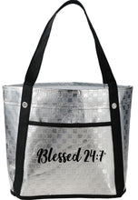 Load image into Gallery viewer, Blessed 24:7 Metallic Mini Tote