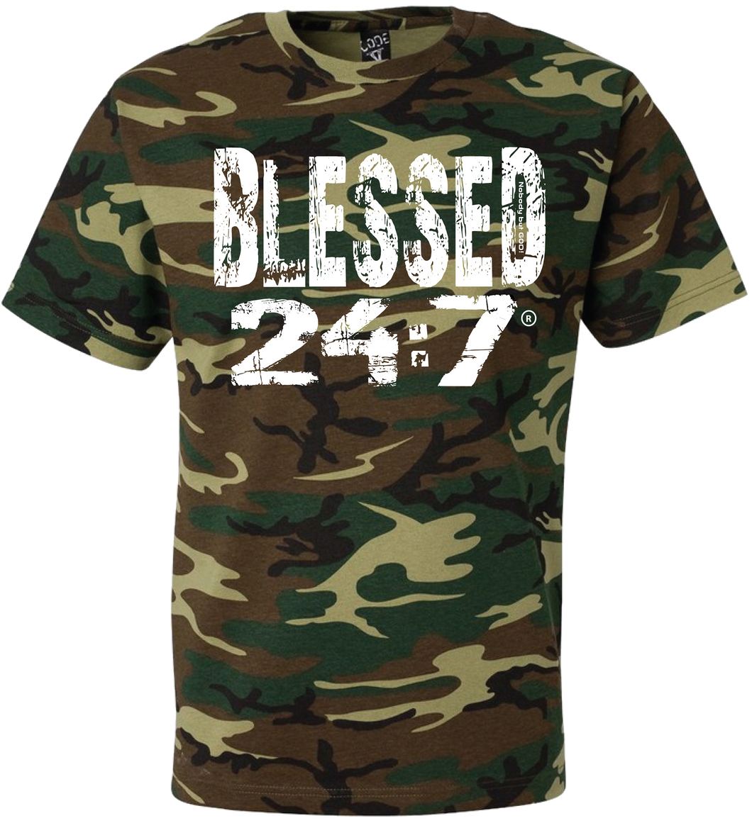 Blessed 24:7 (Camouflage) Unisex T-shirts