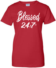 Load image into Gallery viewer, Blessed 24:7 (Greek-Sorority Life) Ladies T-shirts