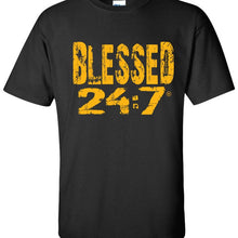 Load image into Gallery viewer, Blessed 24:7 (Greek-Fraternity Life) T-Shirts