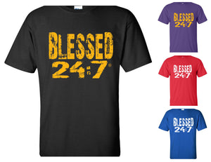 Blessed 24:7 (Greek-Fraternity Life) T-Shirts