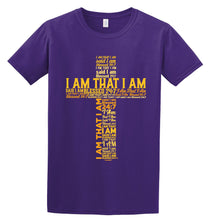 Load image into Gallery viewer, Blessed 24:7 (I AM THAT I AM) Unisex T-shirt Purple