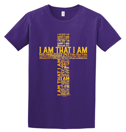 Blessed 24:7 (I AM THAT I AM) Unisex T-shirt Purple