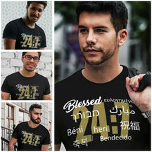 Load image into Gallery viewer, Blessed 24:7 (9 Different Languages) Unisex T-shirts