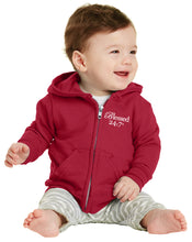 Load image into Gallery viewer, Blessed 24:7 Baby Zip Hoodies
