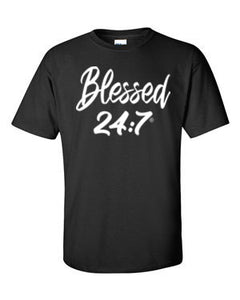 Blessed 24:7 (Glow In The Dark) Unisex T-shirts