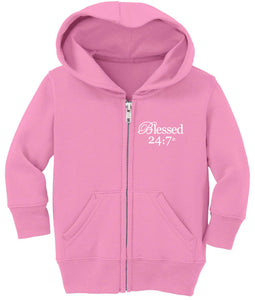 Blessed 24:7 Baby Zip Hoodies