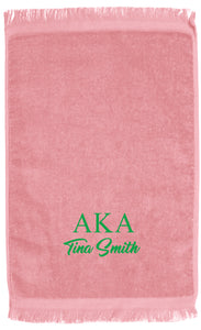 Hand Towels (GREEK) Life Soroirty PERSONALIZED