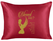 Load image into Gallery viewer, Blessed 24:7 Lounge (Night) Shirt & Satin Pillowcase