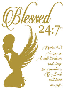 Blessed 24:7 Lounge (Night) Shirt & Satin Pillowcase